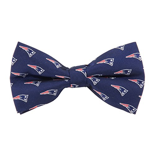 NFL New England Patriots Men's Woven Polyester Repeat Bowtie, One Size, Multicolor