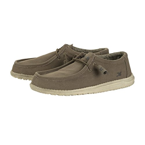 f790b585dc56d durable service Hey Dude Shoes Wally L Canvas Shoes - Olive Size EU ...