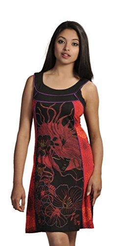 Camiseta de manga larga vestido colorido con diseño de parches�?Naranja