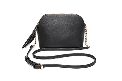Crossbody Bags for Women | MKF Collection Purses and Handbags | Cross Body Pocketbook Satchel (Black)