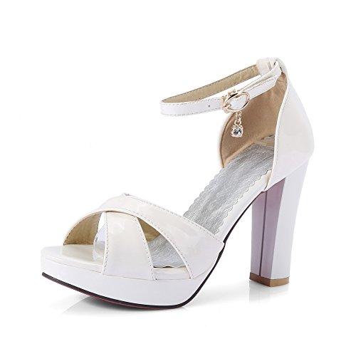 36 Blanc Femme Plateforme SLC04140 AdeeSu 5 Blanc EU 78WRq