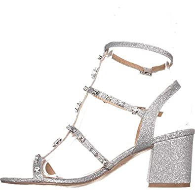 Badgley Mischka Womens Ana Open Toe Ankle Strap Classic Pumps