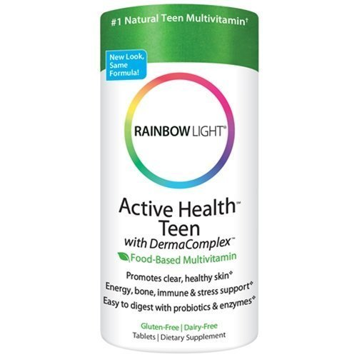 Rainbow Light Active Health Teen with DermaComplex multivitamin 60 Tablets