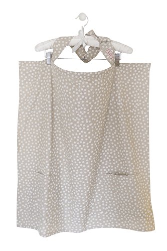 Breastfeeding Cover - 100% British cotton - Made in Europe - Adjustable neck strap and boning - Two side pockets - Nursing Apron Scarf Shawl - MY LITTLE KOALA (Adjustable Boning Straps)