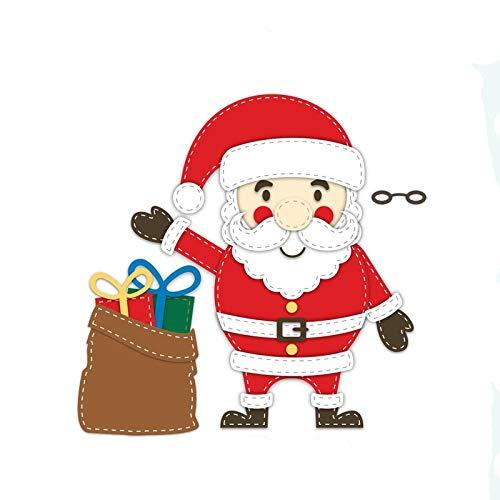 Jolly Santa Metal Cut Cutting Dies Mold Tool Scrapbooking Scrapbook Craft Cuts Thin Paper Art Emboss Card Make Stencil 195x113mm