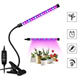 10W Led Grow Lights for Indoor Plants, 360 Adjustable Fuction for Plant Growing, Hydroponic Garden, Greenhouses, Gardening, Office and More