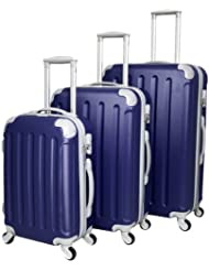 Departures 3 Piece Luggage Set Color: Navy