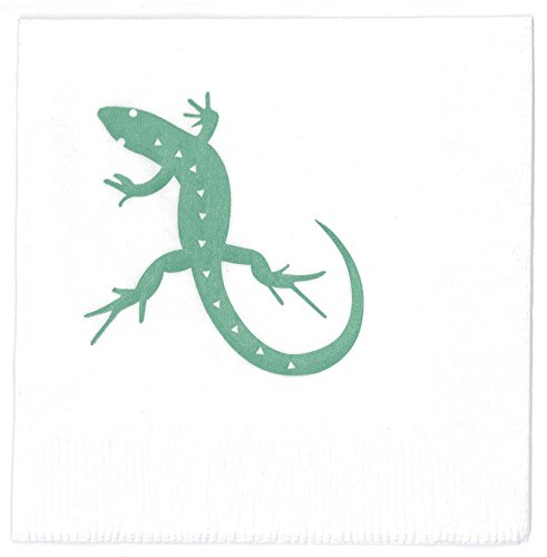 Lizard Party Napkins, Reptile Party Décor, Made in America by REVEL & Co ()