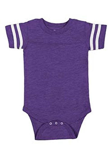 Infant Baby Boys or Girls Football Jersey Style Creeper / Onesie / Bodysuit (24 mo., ()