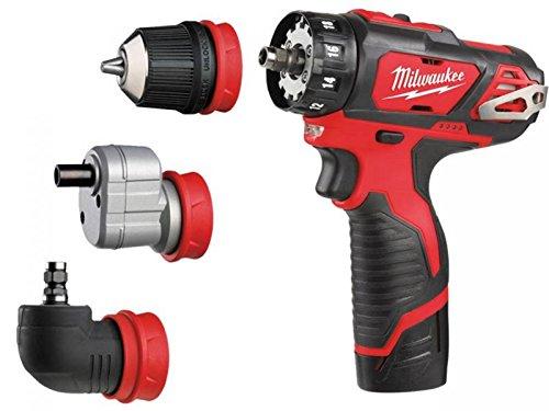 milwaukee m12bddxkit-202c m12 4-in-1 drill driver kit (2 x 2.0ah li ...