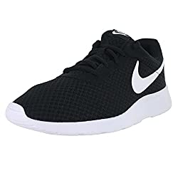 Nike Mens Tanjun Running Sneaker Blackwhite 9.5