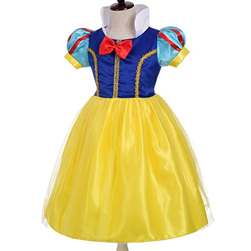 Dressy Daisy Girls' Princess Snow White Costume Fancy Dresses Up Halloween Party Size -
