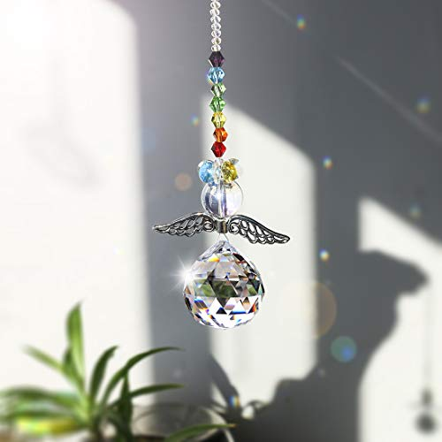 H&D HYALINE & DORA Crystal Guardian Angel Rainbow Makers Suncatchers with 30mm Ball Prism