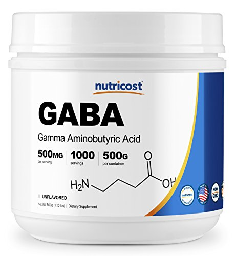 Nutricost Pure GABA 500G Powder (Gamma Aminobutyric Acid) (500 grams/1.1 pounds)