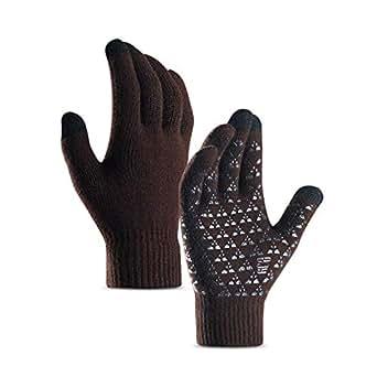 DZRZVD Winter Warm Touchscreen Gloves for Women Men Knit