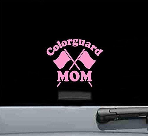 Colorguard Mom Vinyl Decal Sticker (SOFT PINK) (Vinyl Guard Rim)