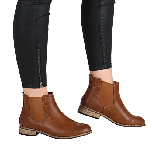 Stiefelparadies Stivali Stiefelparadies Chelsea Donna Chelsea Donna Stivali Stiefelparadies Stivali Marrone Marrone xqPXqrpCw