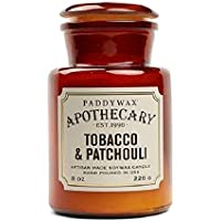 Paddywax Amber and Smoke Travel Candle 2 Ounce, Tobacco & Patchouli, 8-Ounce