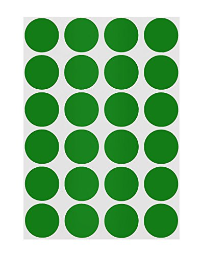 Green Inventory Circle Labels - ChromaLabel 3/4 inch Color-Code Dot Labels on Sheets | 1,008/Pack (Green)