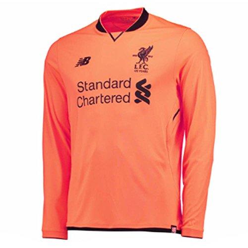 (New Balance 2017-2018 Liverpool Elite Third Long Sleeve Football Soccer T-Shirt Jersey)