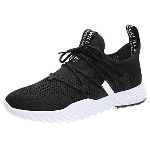 JJLIKER Mens Mesh Cut Out Summer Cool Shoes Trainers Running Shoes Athletic Sneakers Tennis Shoe Fashion for Walking