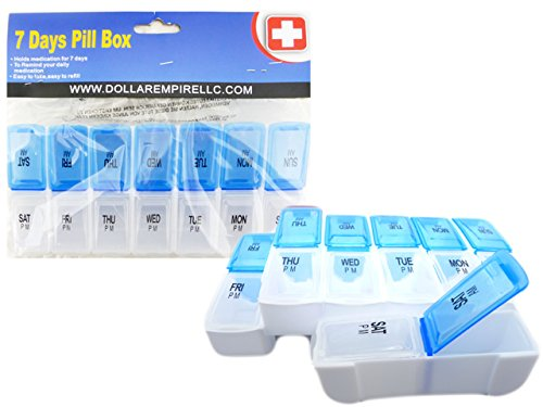 PILL BOX 7 DAYS 2 LAYER D&N, Case of 72