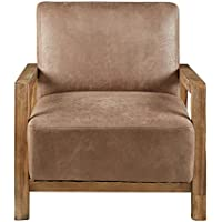 Ink+Ivy II100-0048 Easton Accent Chair, Taupe/Natural