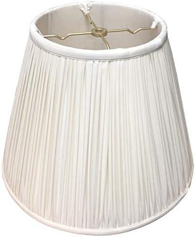Royal Designs Deep Empire Gather Pleat Basic Lamp Shade, White, 10 x 20 x 15