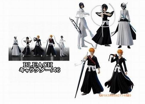 "Japanese Anime Bleach 5 Pcs set Figures - 4"" tall"