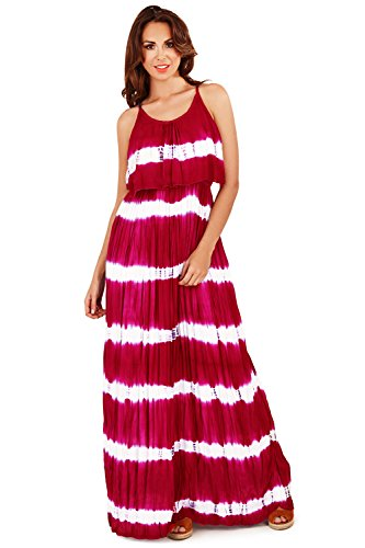 pliss Marine Tie Longue Maxi And Robe Rayures Dye Rouge Superbe Court ou Jupe A5qTRx6
