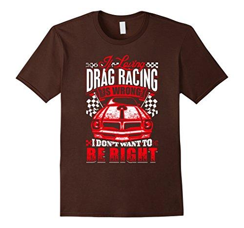 Men's Loving Drag Racing T Shirt Medium Brown
