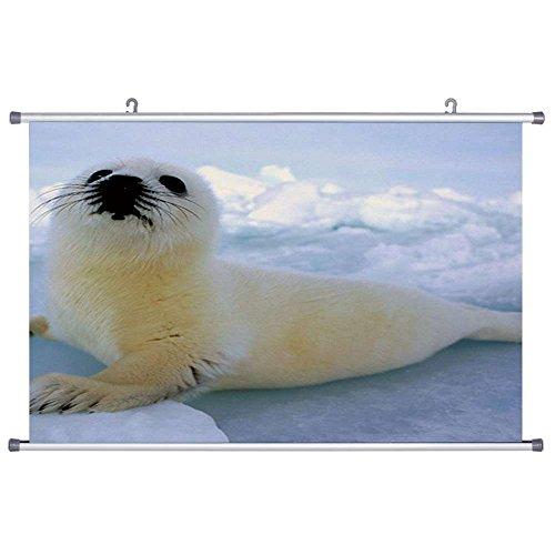 Art Print Wall Scroll Poster- Baby Harp Seal