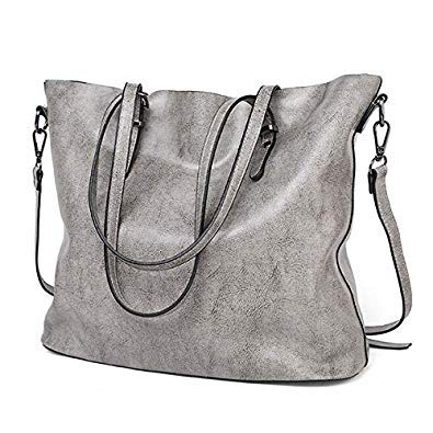 Bloomerang Aeclvr Fashion Casual Lager Shoulder Bag Women Tote Bag Solid  Soft Pu Leather H  Amazon.in  Shoes   Handbags 3e4338506d0a7