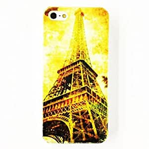 GJYParis Eiffel Tower Pattern TPU Soft Case for iPhone 4/4S , Multicolor