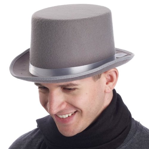 Super Deluxe Grey Top Hat