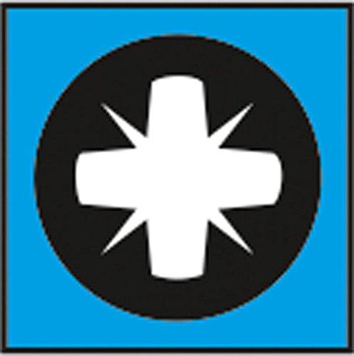 Connex Universalschrauben-Sortiment 480-teilig - Diverse Größen in Stapelbox - Senkkopf - PZ Pozidriv-Antrieb - Voll…