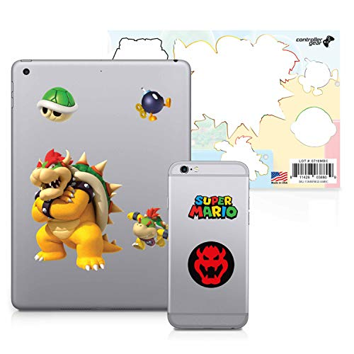 Controller Gear Super Mario – Character Tech Decal Pack – Bowser's Clan – Nintendo Wii; GameCube