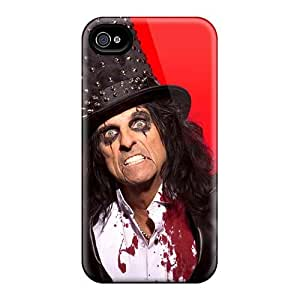 Shockproof Hard Cell-phone Case For Iphone 4/4s With Custom Nice Alice Cooper Band Skin JonBradica