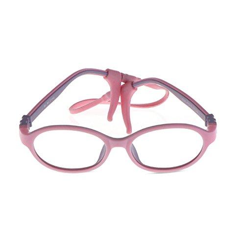 5023 Eyeglasses - Fantia TR90 Glasses Frame Two-Color Soft Light Children's Eyewear Kids Eyeglass (C3)