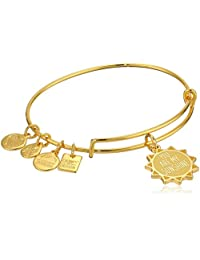 Alex and Ani Women's Charity by Design, You are My Sunshine Charm Bangle Bracelet, Shiny Gold, Expandable