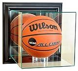 NBA Wall Mounted Basketball Glass Display Case, Black