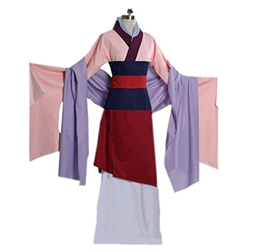 [Womem Classic Design Drama Dress Cospaly Halloween Christams Party Costume (Female S] (Adult Mulan Costumes)