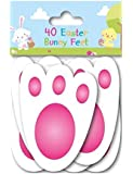 40 Easter Bunny Feet Kids Party Game Egg Hunt Rabbit Footprints Reusable 11cm
