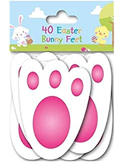 25 assorted colour fillable plastic surprise eggs fill with 40 easter bunny feet kids party game egg hunt rabbit footprints reusable 11cm negle Gallery