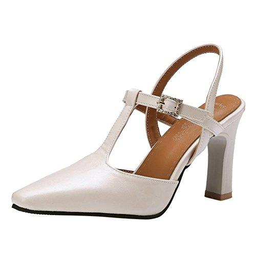 Con Eleganti Carolbar Elegante Da Tacco Beige Donna Alto Scarpe Scarpa Strass xSx1I