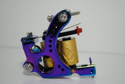 Premium Copper Wire Coils Tattoo Machine Liner & Shader, Blue, - Gun Shader