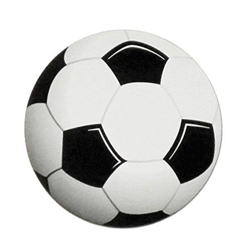 Soccer Ball Round Printed Car Magnet ()