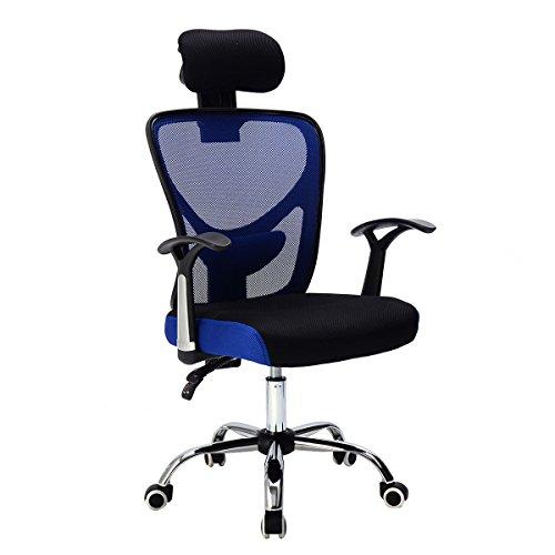 41h1H5NiMzL - Giantex Executive Office Chair Mesh High Back Home Adjustable Swivel Ergonomic Computer Desk Chair with Headrest