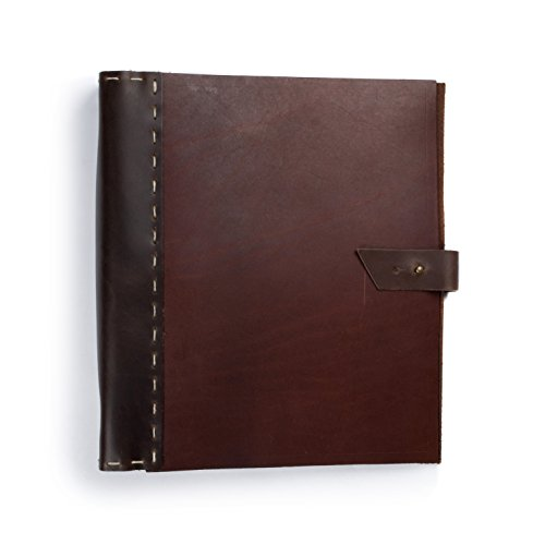 Rustico Leather Binder 3 ring, Photo Album - Scrapbook Style Pages (2015 Daily Planner With Zipper)