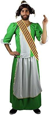 Disfraz de Fallera Verde para Hombre: Amazon.es: Juguetes y juegos